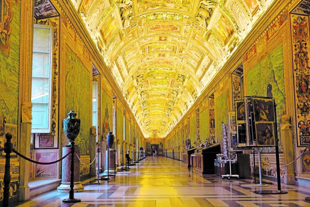 The Gallery of Maps at the Vatican Museums can be surprisinglyquiet early in the morning. (Special to the Pioneer Press: Amy Laughinghouse)