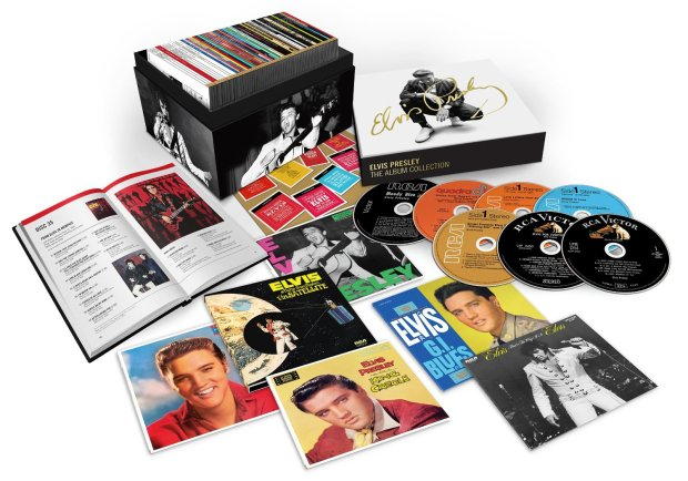 """Elvis Presley's """"The RCA Albums Collection,"""" a new 60-CD box set."""