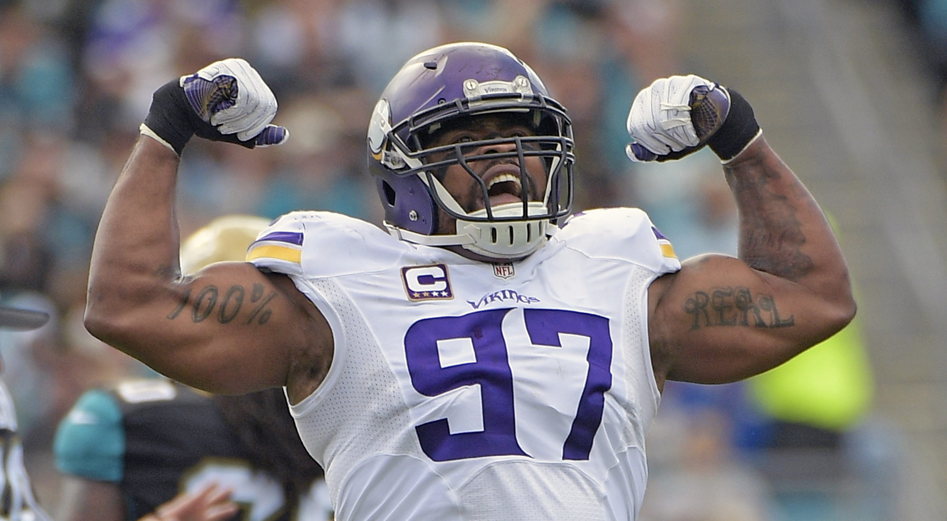 Vikings' Everson Griffen: Lions OL Greg Robinson is 'kind of lazy'