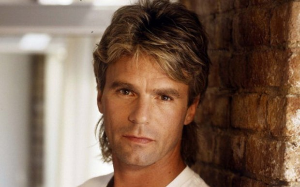 """Here's a """"MacGuyver"""" promo shot of Anderson from the height of his hair -- er, career. (ABC Photo Archives)"""