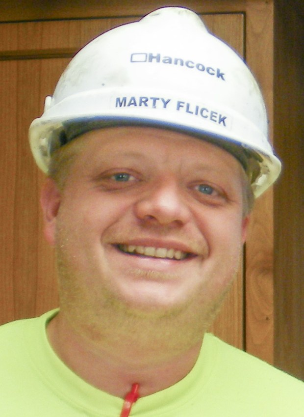 Marty Flicek, a Hancock Concrete supervisor (Special to Forum News Service)