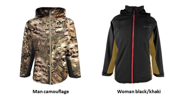 The Heacket also comes in camouflage. (Courtesy of Heacket.com)