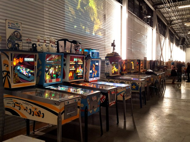 Undated courtesy photo, circa Jan. 2017, of the boardwalk of amusements shows some of the many vintage arcade games available to play at Can Can Wonderland. Can Can Wonderlan, an artist-designed mini-golf course with Coney Island-style attractions, opens Thursday in an industrial space in St. Paul's Hamline-Midway neighborhood. Photo courtesy of Jennifer Pennington.