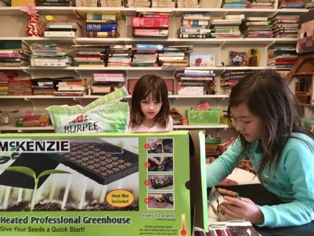 I bought a tabletop greenhouse for my daughter and her friend, but I think it was really for me. photo by Molly Guthrey