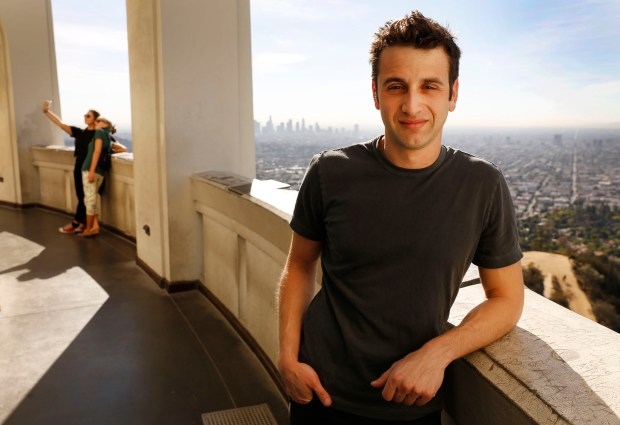 Composer Justin Hurwitz, who wrote the music for the musical film La La Land, which is set in and all around Los Angeles, includes scenes at Griffith Observatory on November 09, 2016 in Los Angeles, Calif. (Al Seib/Los Angeles Times/TNS)