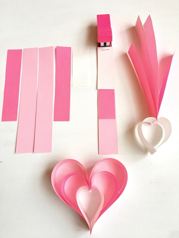 Everybody in your family can make these east-to-make hearts to display for Valentine's Day. (Courtesy of Donna Erickson)