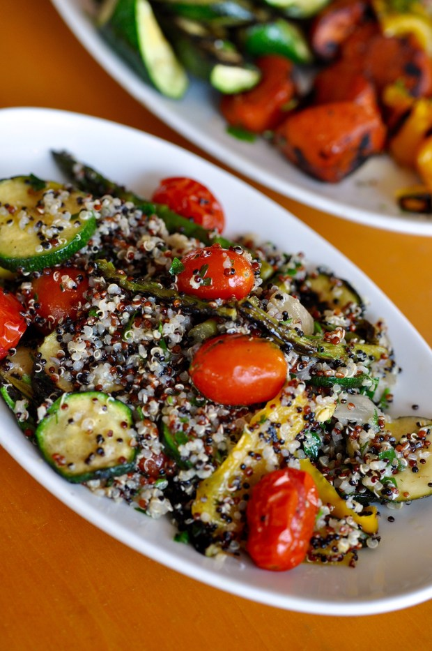 Quinoa and grilled vegetables at D'Amico & Sons. (Courtesy photo)