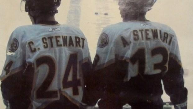Minnesota Wild's Chris Stewart and brother Anthony Stewart