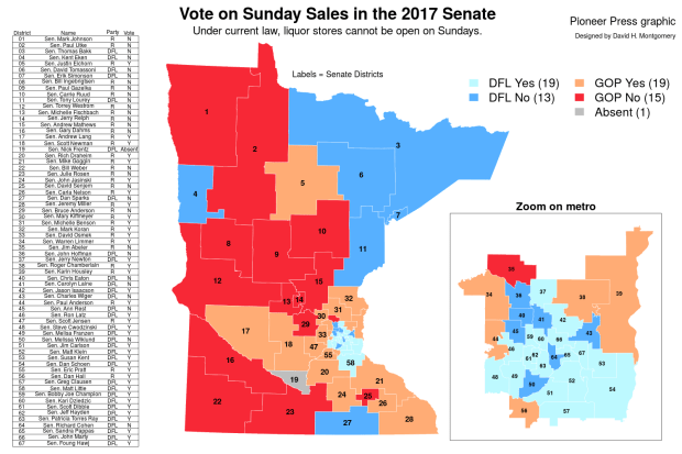 Sunday Sales in the 2017 Senate