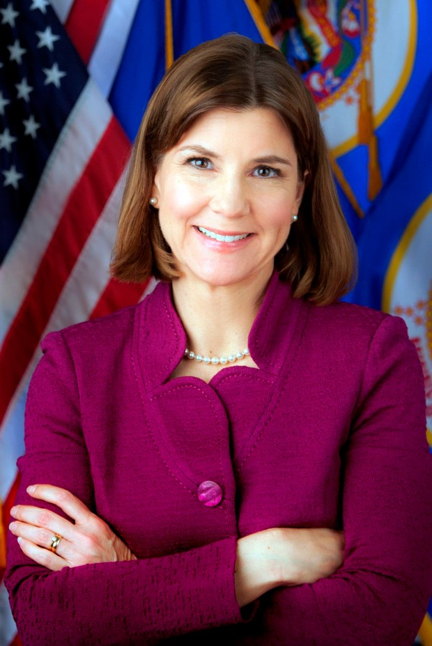 Undated courtesy photo of Lori Swanson. Swanson was elected Attorney General of the State of Minnesota in 2006, and reelected in 2010 and 2014. She is Minnesota's 29th Attorney General and its first female Attorney General. (Courtesy photo)