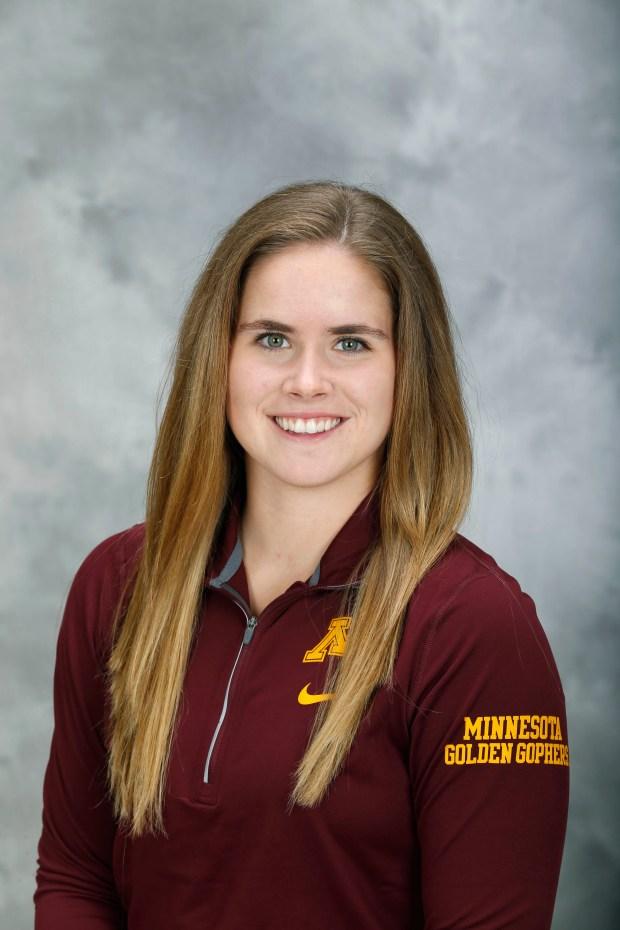 Photo of University of Minnesota women's hockey player Dani Cameranesi. Photo courtesy of University of Minnesota Athletics.