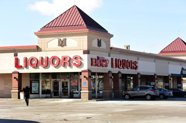 Big Top Liquors, near Snelling and University Aves. in St. Paul, is shown in a photograph taken on Thursday, March 2, 2017. The store is located at a shopping center entrance that would be reconfigured into a real street approach for the Major League Soccer stadium. (Pioneer Press: Scott Takushi)