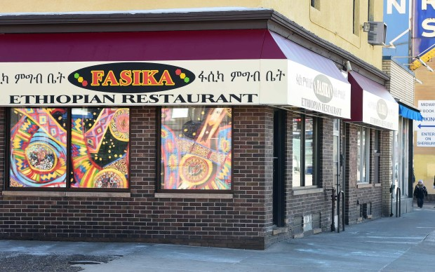 Fasika Etihiopian Restaurant in St. Paul is shown Thursday, March 2, 2017. There's still no firm date on when construction for the Minnesota United soccer stadium -- once slated to start last May -- might actually begin, but Fasika and other ethnic eateries on Snelling Ave. have completed facade improvements in anticipation of the crowds. (Pioneer Press: Scott Takushi)