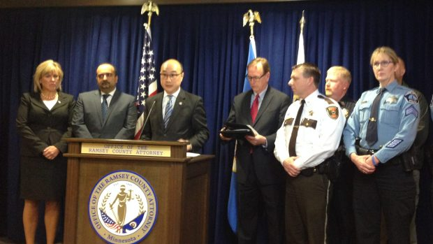 Authorities in Ramsey and Washington counties announced criminal charges in March against four defendants in an international enterprise targeting women who are Chinese and Korean nationals and forced them to have sex with men across the country for money, according to Ramsey County Attorney John Choi and Washington County Attorney Pete Orput. (Sarah Horner / Sarah Horner)