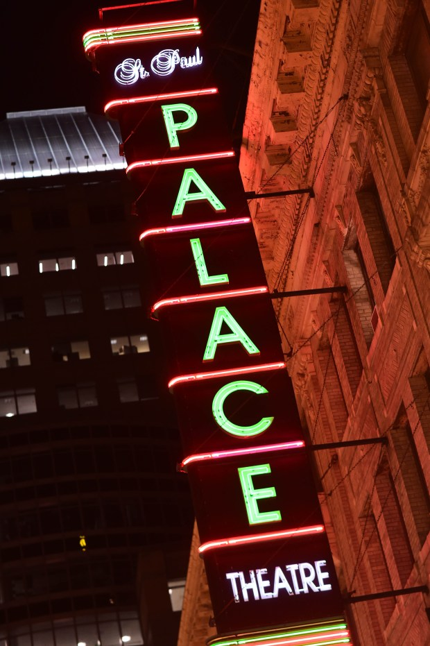 The Palace Theatre in downtown St. Paul celebrated opening night with a sold-out concert by Atmosphere, Friday, March 10, 2017. (Scott Takushi / Pioneer Press)