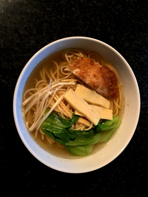 Ramen bowl with chicken seasoning. (Nancy Ngo / Pioneer Press)