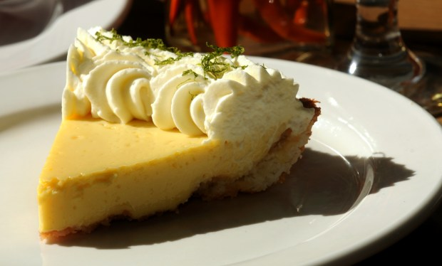 Revival's margarita key lime pie is served with tequila whipped cream. (Pioneer Press: Ginger Pinson)