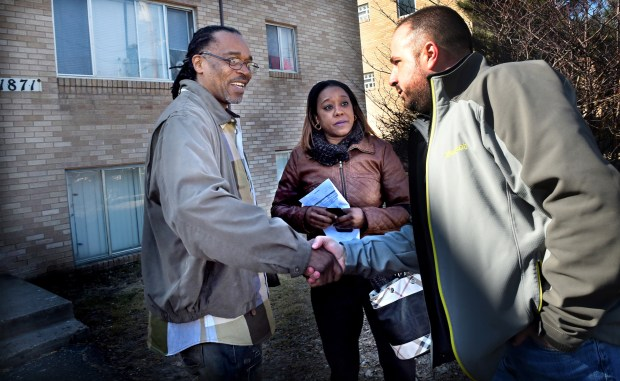 When Baker saw Spencer outside his apartment, he came down to talk with him. Baker's arrest on charges of obstructing the legal process was later voided. His lawyer, Robert Bennett, filed a $5 million federal lawsuit against the department and the city after settlement negotiations reached an impasse. (Jean Pieri / Pioneer Press)
