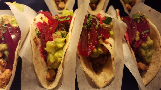Adobo grilled chicken taco from Barrio is one of the new foods at Target Field for 2017. (Andy Rathbun / Pioneer Press)