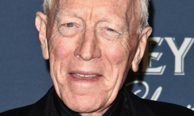 LOS ANGELES, CA - FEBRUARY 23: Actor Max von Sydow arrives at The Hollywood Reporter's 'Nominees' Night 2012' A Celebration of the 84th Annual Academy Awards at the Getty House on February 23, 2012 in Los Angeles, California. (Photo by Chelsea Lauren/Getty Images)