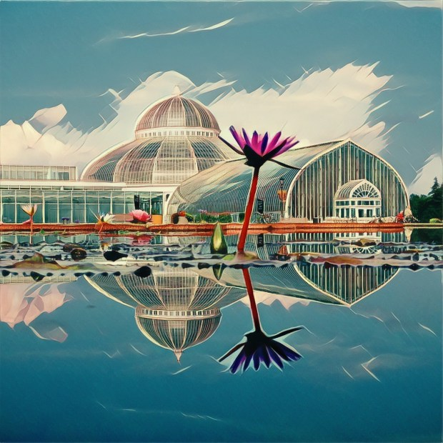 """""""Media Reflecting in Como Park"""" by Charles Hezsely will be at Union Depot during the St. Paul Art Crawl. (Courtesy St. Paul Art Crawl)"""