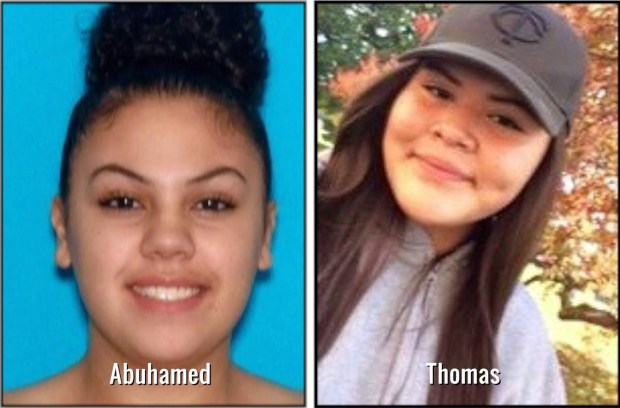 The Pine County Sheriff's Office is asking for help in locating Aseil Cynthia-Salema Abuhamed and Tayah Valorios Thomas, both 17.