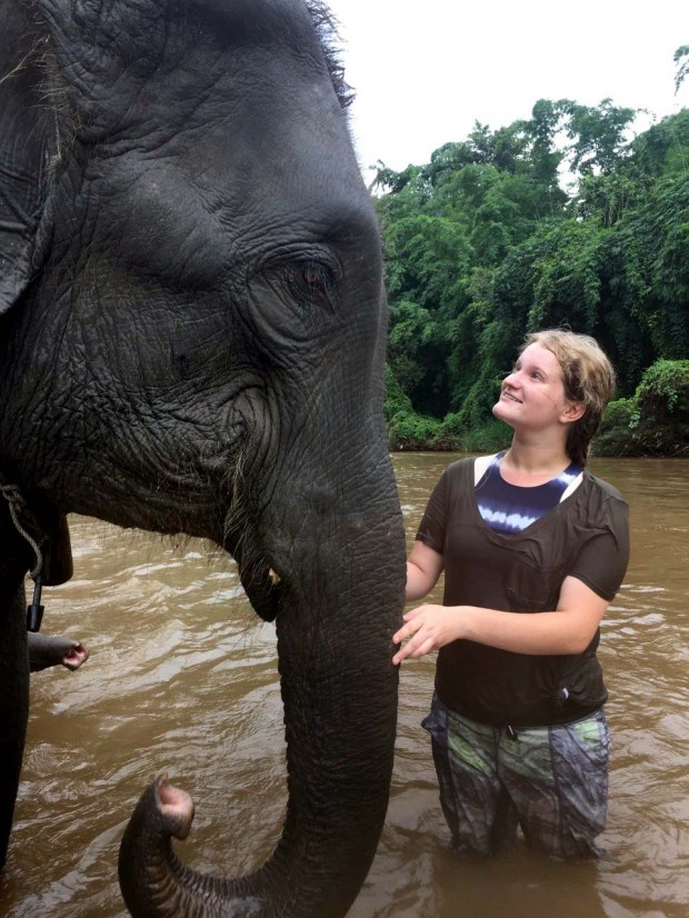 Delia Grimes, 16, of St. Paul traveled to Thailand in August 2016 to learn about elephant conservation, helped in part by a grant from the Ann Bancroft Foundation. (Courtesy of the Ann Bancroft Foundation)