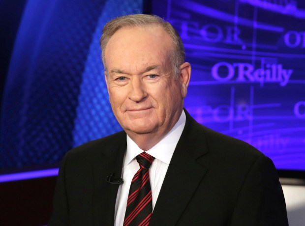 "In Oct. 1, 2015 file photo, Bill O'Reilly of the Fox News Channel program ""The O'Reilly Factor,"" poses for photos in New York. O'Reilly says in a statement posted to his website that he is ""vulnerable to lawsuits"" because of his high-profile job in response to a New York Times report, Saturday, April 1, 2017, detailing payouts made to settle accusations of sexual harassment and other inappropriate behavior. Fox News' parent company 21st Century Fox backed him in a statement. AP Photo/Richard Drew, File)"