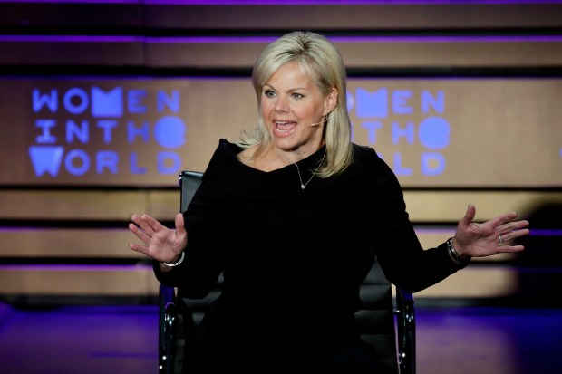 Former Fox News person Gretchen Carlson speaks during the Women in the World Summit at Lincoln Center in New York, Thursday, April 6, 2017. (AP Photo/Richard Drew)