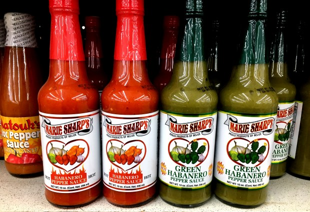 For a story about my favorite upscale pantry items: Marie Sharp's hot sauce is available at Dragon Star Foods in St. Paul. (Jess Fleming / Pioneer Press)