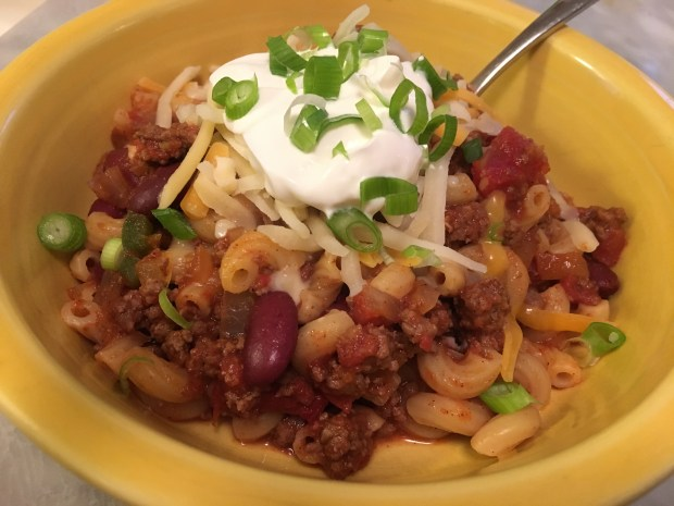 Chili Mac is a great meal on a cold, rainy day. (Pioneer Press: Jess Fleming)