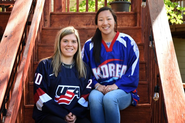 Sisters Hannah, left, and Marissa Brandt, photographed at their family home in Vadnais Heights on Thursday, May 11 , 2017, will be playing in the 2018 Winter Olympics in Women's Hockey. Hannah played in college for the University of Minnesota and Marissa for Gustavus Adolphus. (Scott Takushi / Pioneer Press)