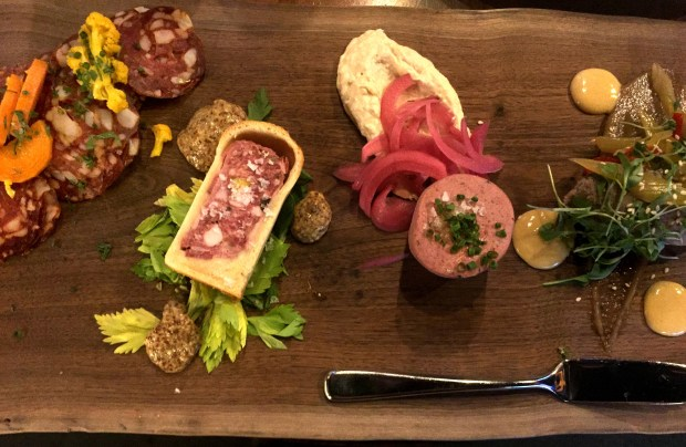 Charcuterie Board at Surly Beer Hall in Minneapolis, photographed April 29, 2017. (Nancy Ngo / Pioneer Press)