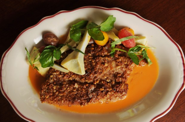 The Whitefish a la Gorbachev at The Lexington restaurant in St. Paul while has opened it's doors after undergoing a renovation with a revamped menu on Tuesday, May 2, 2017. Pioneer Press/Ginger Pinson