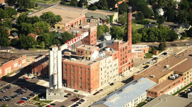 Aerial shots of the Schmidt Brewery in St. Paul on Thursday, August 20, 2015. (Pioneer Press: Scott Takushi)