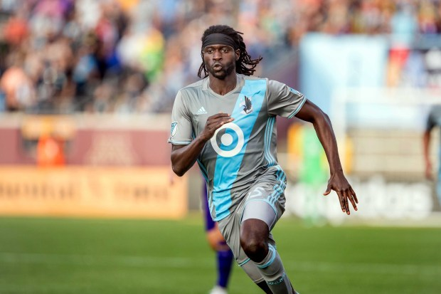 Minnesota United FC midfielder Ish Jome runs during Minnesota's 1-0 win over Orlando City on Saturday, May 27, 2017, at TCF Bank Stadium in Minneapolis. (Courtesy of Minnesota United)