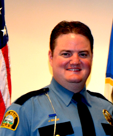 EMBARGOED UNTIL 7 P.M. SATURDAY, JUNE 10, 2017 -- The Minnesota Police and Peace Officers Association named its Officer of the Year on Saturday, June 10, 2017. St. Paul Police Officer Joseph Sauer received an Honorable Mention Award for saving a girl who was kidnapped in Cathedral Hill in 2016. He is pictured in April 18, 2017. (Courtesy of Molly Greifzu, St. Paul Police Department)