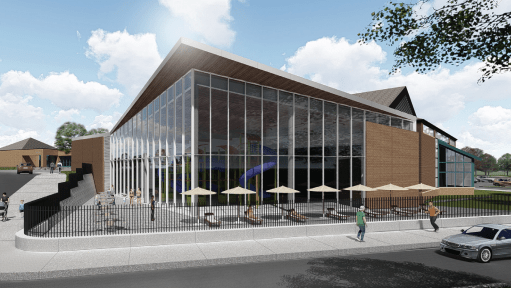 Exterior rendering of proposed expansion of the Shoreview Community Center. (Courtesy of Shoreview)
