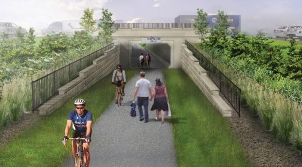 Dakota County is exploring the idea of a Robert Street  tunnel as part of its River to River Greenway trail. (Courtesy of Dakota County)