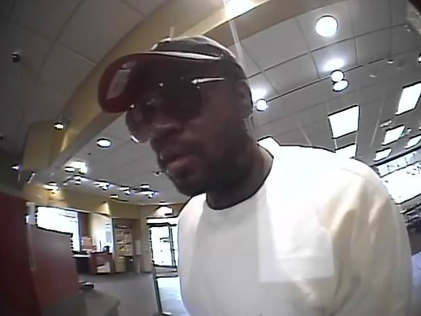 Police say this is the suspect in a robbery of TCF bank on the 400 block of Lexington Parkway in St. Paul at 4:30 p.m. Tuesday, July 11, 2017. (Courtesy St. Paul Police Department)