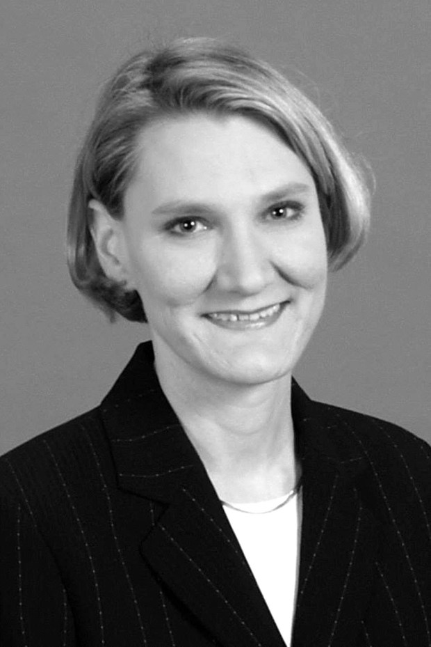 Undated black and white courtesy photo from 2008 of of Beverly Cory, 48, of Maplewood, who was fatally shot July 29, 2017, in Mendota Heights. (Courtesy of Edward Jones)