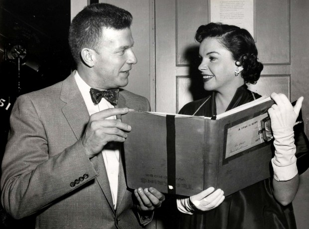 "Former St. Paul Pioneer Press columnist and media personality Bill Diehl is shown with actress Judy Garland during the filming of ""A Star Is Born"" in a 1954 file photo. (Pioneer Press Files)"