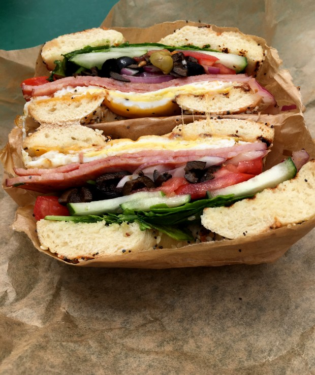 July 2017 photo of the Market Favorite from Golden's Deli stand at the St. Paul Farmers' market. (Jess Fleming / Pioneer Press)