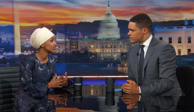 "Minnesota Rep. Ilhan Omar  appeared on Comedy Central's ""The Daily Show"" on Thursday, July 13, 2017."