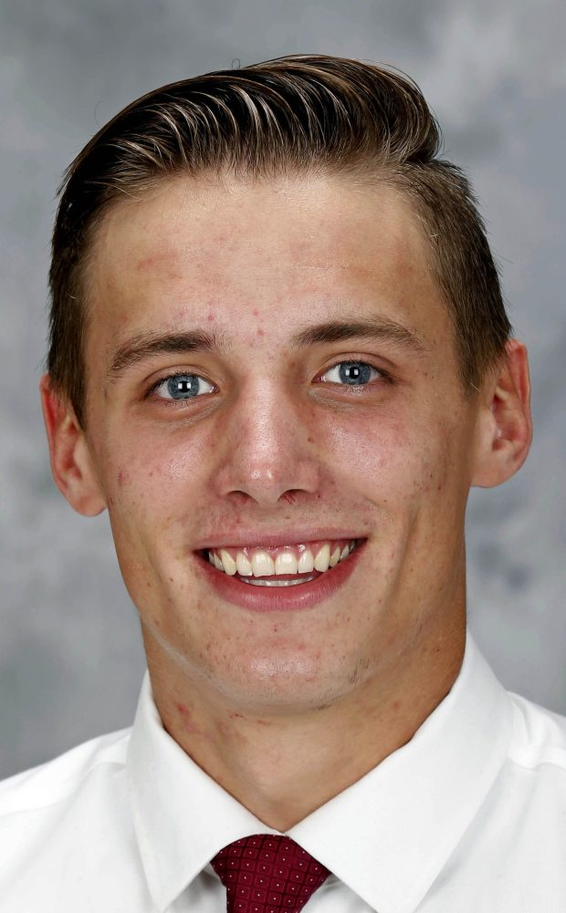 Aug. 2016 courtesy photo of University of Minnesota hockey player Jack Sadek. Sadek, formerly of Lakeville North, is in Wild development camp this week (July 2017). (Eric Miller / University of Minnesota Athletics)