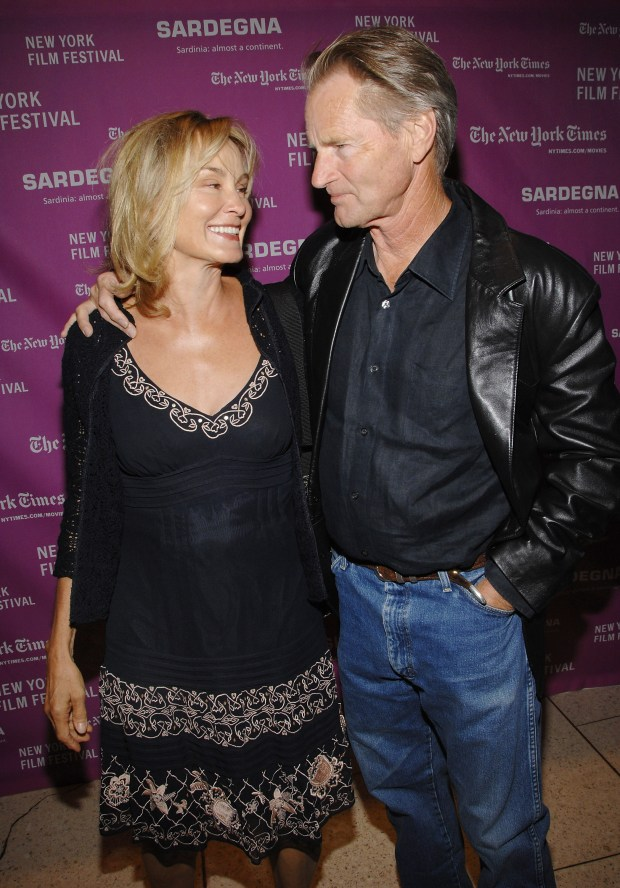 """Actress Jessica Lange and companion actor Sam Shepard attend the New York Film Festival opening night premiere of """"The Darjeeling Limited"""" at Avery Fisher Hall, Friday, Sept. 28, 2007 in New York. (AP Photo/Evan Agostini)"""