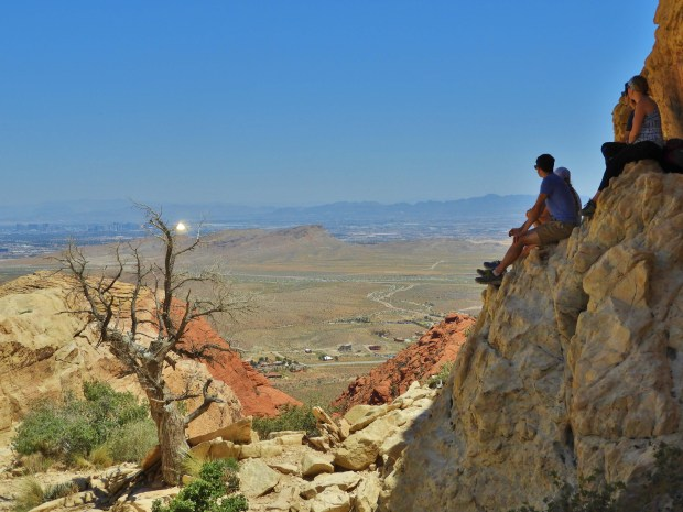 Red Rock Canyon hikers in Las Vegas, Nevada