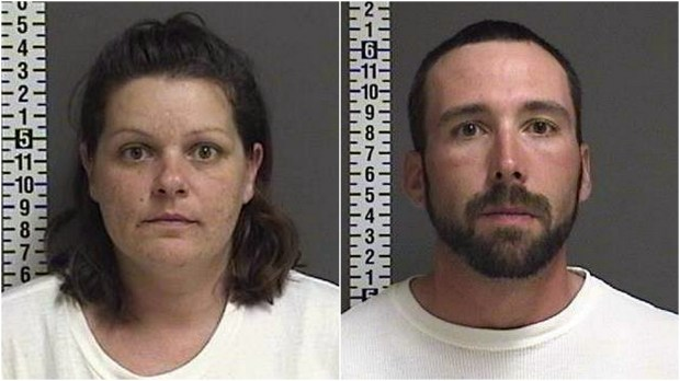Brooke Lynn Crews and William Henry Hoehn were arrested Thursday, Aug. 24, 2017, after a baby was discovered in the apartment of missing Fargo woman Savanna LaFontaine-Greywind. (Courtesy Cass County sheriff's office)
