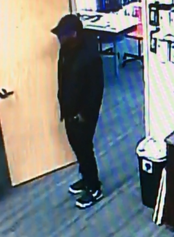 Inver Grove Heights police say they are looking for this man, who is suspect in an attempted robbery at The Cellular Connection, at the northeast corner of Concord Boulevard and Cahill Avenue, about 11 a.m. Thursday, Aug. 17, 2017. (Courtesy of Inver Grove Heights police)