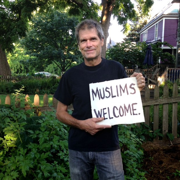 "Mike Madden is shown in an undated courtesy photo, circa Aug. 2017. Madden, a St. Paul resident and U.S. Air Force veteran, is contesting his arrest Jan. 29, 2017 when he tried to join with a group of folks protesting President Donald Trump's controversial ""Muslim"" travel ban at the Minneapolis-St. Paul international airport. (Courtesy of Mike Madden)"